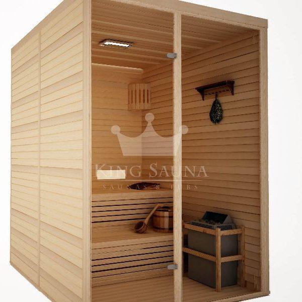 """Surenkama vidinė Sauna """"STANDART"""" 1.52m x 1.52m"""