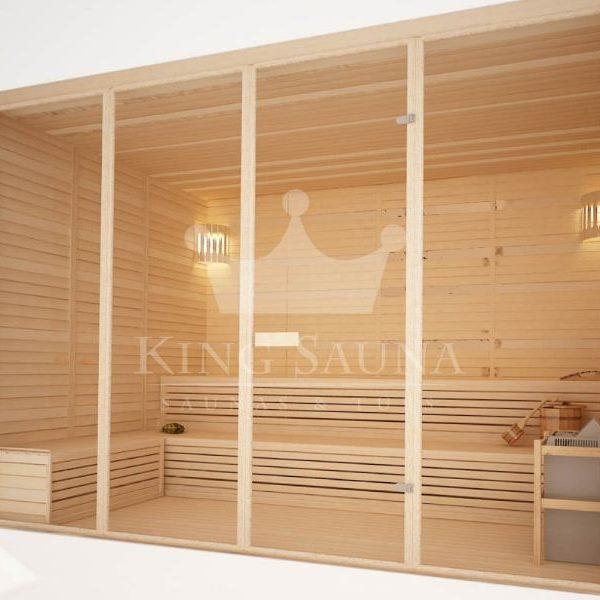 """Vidinė Sauna """"STANDART"""" jūsų namams 2.19m x 2.87m"""